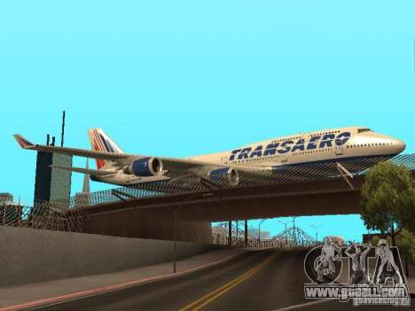 Boeing 747-400 for GTA San Andreas right view