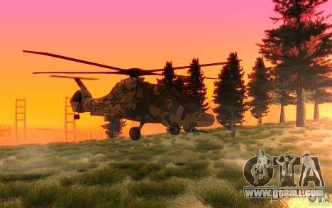 Sikorsky RAH-66 Comanche Camo for GTA San Andreas left view