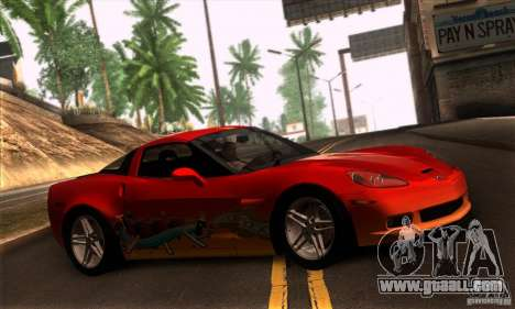 Chevrolet Corvette Z06 for GTA San Andreas side view