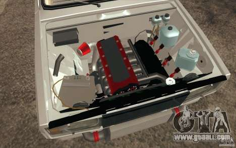 Vaz Lada 2107 Drift for GTA San Andreas bottom view