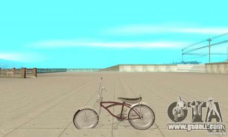 Lowrider Bicycle for GTA San Andreas left view