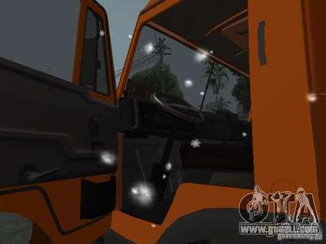 KAMAZ 53215 for GTA San Andreas inner view