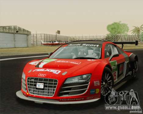 Audi R8 LMS v2.0.1 for GTA San Andreas back left view