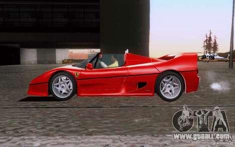 Ferrari F50 v1.0.0 1995 for GTA San Andreas left view