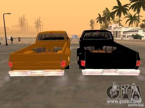 Chevrolet Silverado Lowrider for GTA San Andreas right view