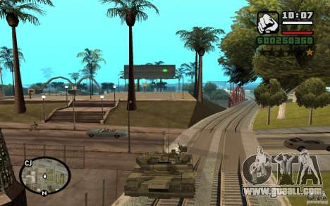 Hydra, Panzer mod for GTA San Andreas second screenshot