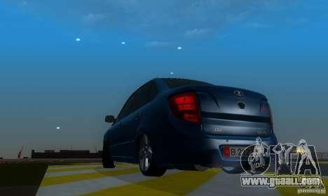 Lada Granta Light Tuning for GTA San Andreas back view