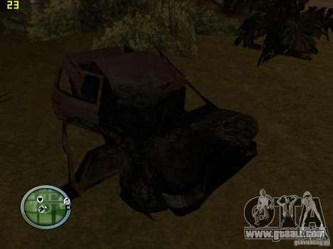 Broken cars on Grove Street for GTA San Andreas third screenshot