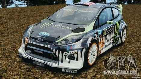Ford Fiesta RS WRC Gymkhana v1.0 for GTA 4