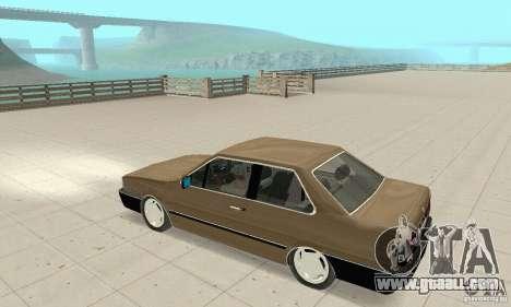 Volkswagen Santana GLS 1989 for GTA San Andreas inner view