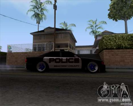 Toyota Chaser jzx100 Drift Police for GTA San Andreas back view