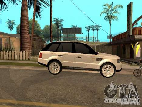 Range Rover Sport for GTA San Andreas back left view