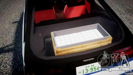 Toyota Trueno AE86 Initial D for GTA 4 bottom view