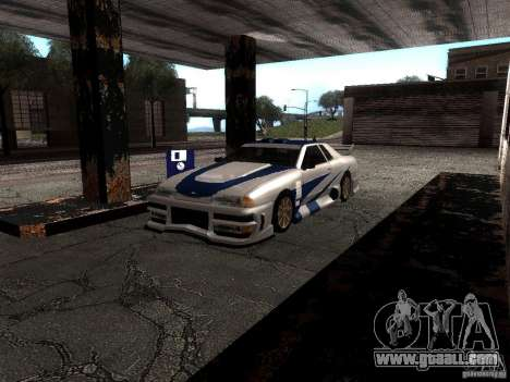 Vinyl with the BMW M3 GTR in Most Wanted for GTA San Andreas left view