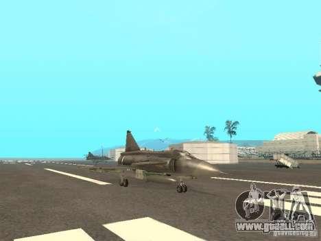 Saab JA-37 Viggen for GTA San Andreas back left view