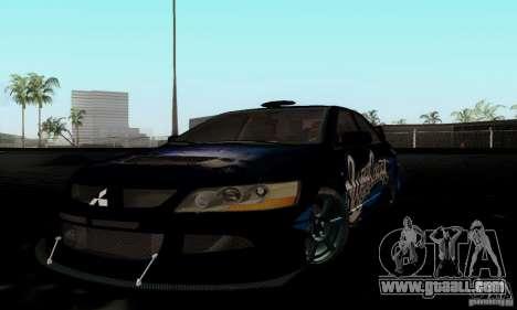 Mitsubishi Lancer Evolution IX for GTA San Andreas back view