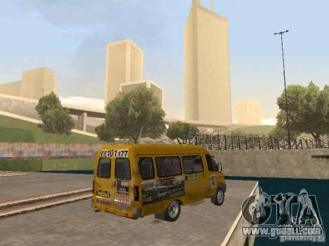 Gazelle Taxi for GTA San Andreas back left view