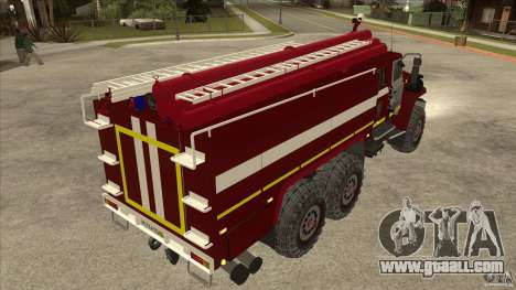 Ural 43206 firefighter for GTA San Andreas right view