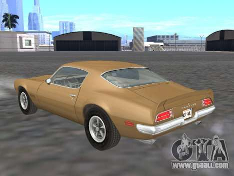 Pontiac Firebird Trans Am 1970 for GTA San Andreas back left view