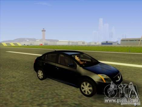 Nissan Sentra 2012 for GTA San Andreas inner view