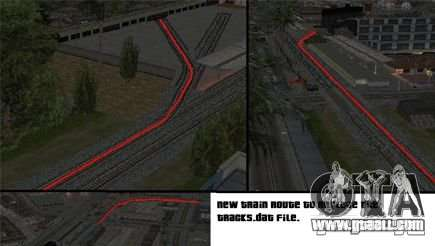 Activation (new routes for trains) for GTA San Andreas