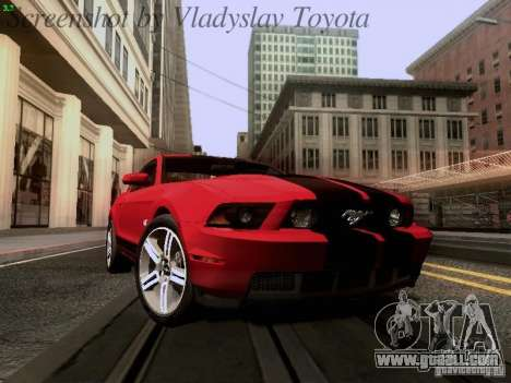Ford Mustang GT 2011 for GTA San Andreas inner view