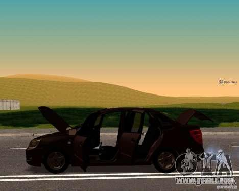 VAZ 2190 Drain for GTA San Andreas back left view