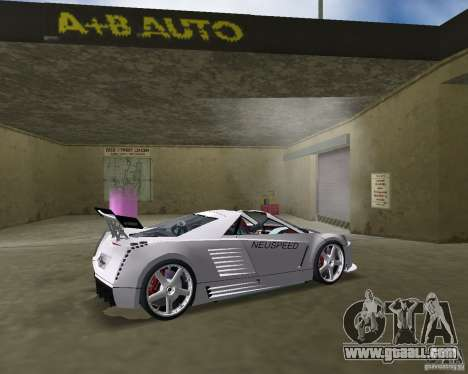 Cadillac Cien Shark Dream TUNING for GTA Vice City back left view