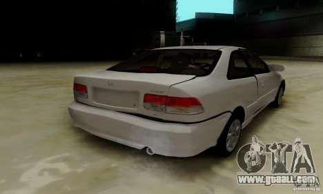 Honda Civic 1999 Si Coupe for GTA San Andreas interior