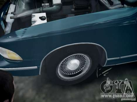 Chevrolet Caprice 1993 Rims 2 for GTA 4 back view