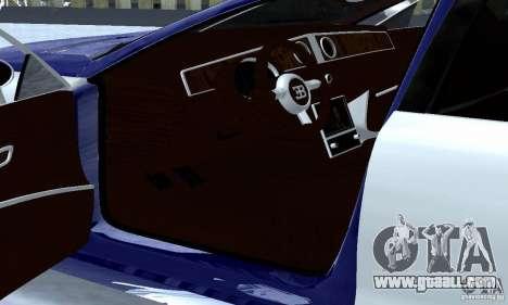 Bugatti Galibier 16c for GTA San Andreas inner view
