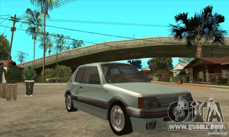 Peugeot 205 GTI v2 for GTA San Andreas back view