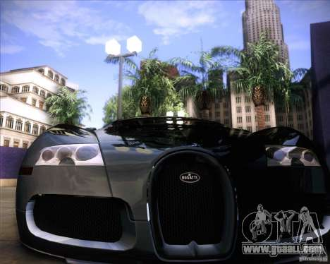 Bugatti Veyron Super Sport for GTA San Andreas bottom view