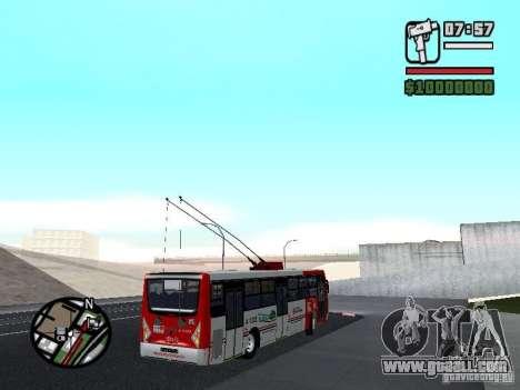 Caio Millennium TroleBus for GTA San Andreas right view