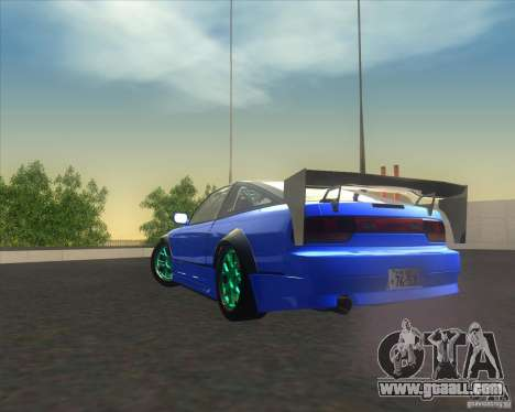 Nissan 240SX for drift for GTA San Andreas back view