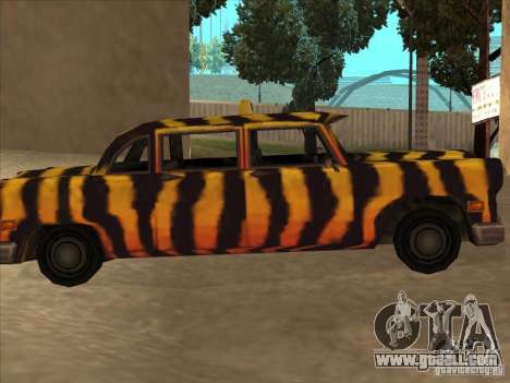 Zebra Cab from Vice City for GTA San Andreas left view