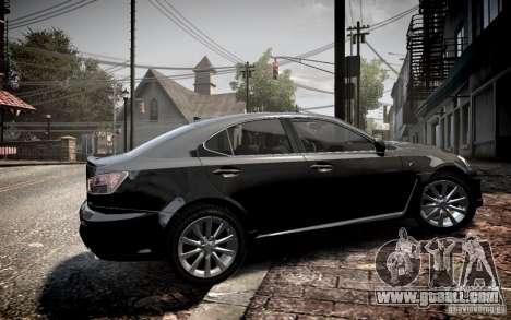Lexus IS-F for GTA 4 left view