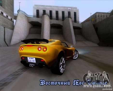 Lotus Exige for GTA San Andreas interior