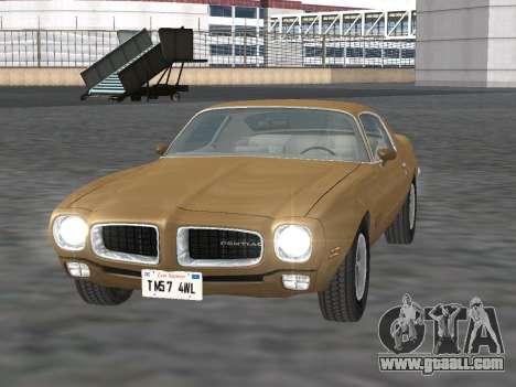 Pontiac Firebird Trans Am 1970 for GTA San Andreas