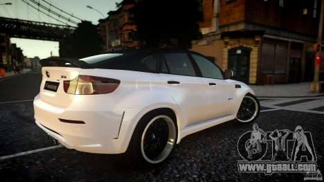 BMW X 6 Hamann for GTA 4 back left view