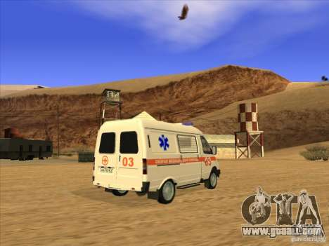 GAS 22172 ambulance for GTA San Andreas left view