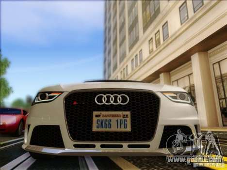 Audi RS4 Avant B8 2013 for GTA San Andreas back view