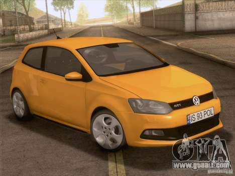 Volkswagen Polo GTI 2011 for GTA San Andreas upper view