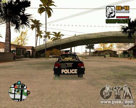 Police car of NFS: MW for GTA San Andreas right view