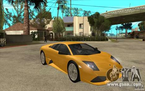 Lamborghini Murcielago LP640 for GTA San Andreas back view