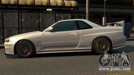 Nissan Skyline R34 2002 for GTA 4 left view