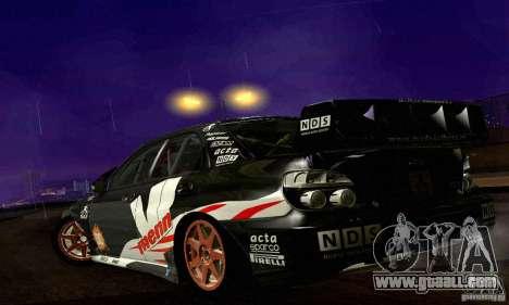 Subaru Impreza WRC 2007 for GTA San Andreas upper view