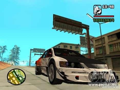 Mitsubishi Lancer Evo IX SpeedHunters Edition for GTA San Andreas back view