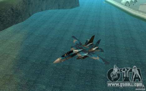 F-14 Tomcat Blue Camo Skin for GTA San Andreas