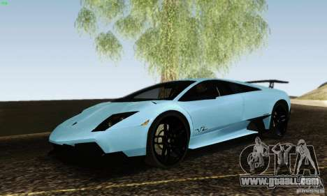 Lamborghini Murcielago LP 670-4 SV for GTA San Andreas back left view